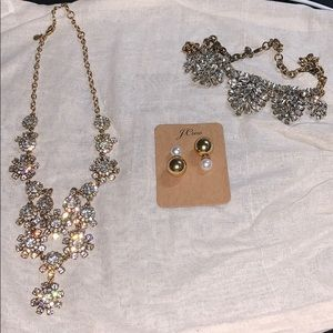 Lot JCrew Necklace + Earrings + Free Necklace